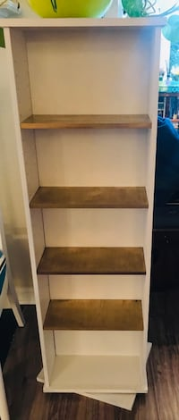 "Swiveled 2 sided book / entertainment shelves 48.5"" tall and 14"" wide Odenton, 21113"