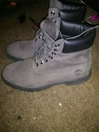 gray-and-black Timberland work boots Webb City, 64870