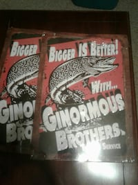 two Ginormour Brothers posters Woodstock