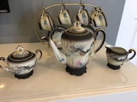 1940's Vintage Japanese Betson Hand Painted 15 Piece Tea Set - Very Rare complete set Absolutely Perfect Oakville, L6H