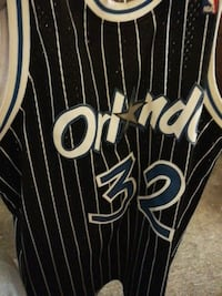black and white Orlando Magic 32 jersey shirt