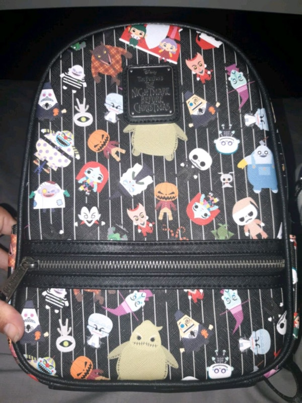 info for 100% top quality low priced Used Loungefly Nightmare Before Christmas mini Backpack for sale ...
