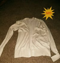 white button-up cardigan with sm text overlay Carrollton, 30117