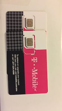 two T-Mobile SIM cards