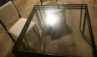 clear glass table with black steel frame Alexandria, 22312