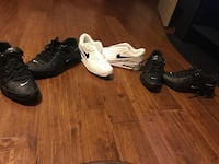 pair of white and two pairs of black Nike sneakers Deatsville, 36022