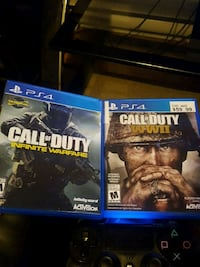 two Sony PS4 game cases Bedford