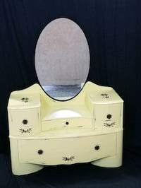 Refinished dresser or makeup vanity with swivel mirror and deep drawer Edmonton, T5Y 2S9