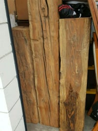 3 hand hewn fir beams Burnaby