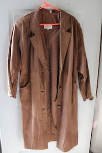Vintage Brown Leather Coat - Women's Large Willow Street, 17584