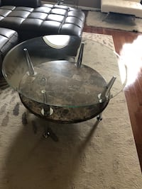 Glass and Marble Cocktail Table - great condition  Washington, 20032