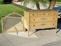 Painted wooden dresser with mirror Modesto, 95356