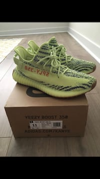 Yeezy frozen yellow sz.11 with receipt  25 mi