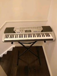 gray electronic keyboard with stand Toronto, M1B 1L8