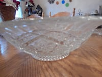 Vintage glass cut bowl  York