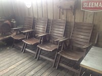 High quality Wooden reclining patio chairs