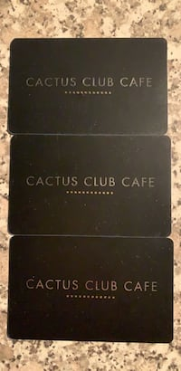 50$ Cactus Club Cafe Gift Cards 3691 km