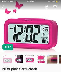 NEW pink alarm clock Hyattsville, 20782