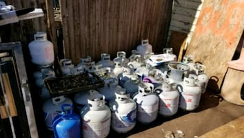 EMPTY PROPANE CANS