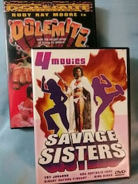 Dolemite and Savage Sisters 4 movie feature dvds
