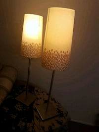 two white-and-brown table lamps Ottawa, K1V 0M6