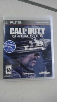 call of duty ghosts ps3 game case Greenbelt, 20770