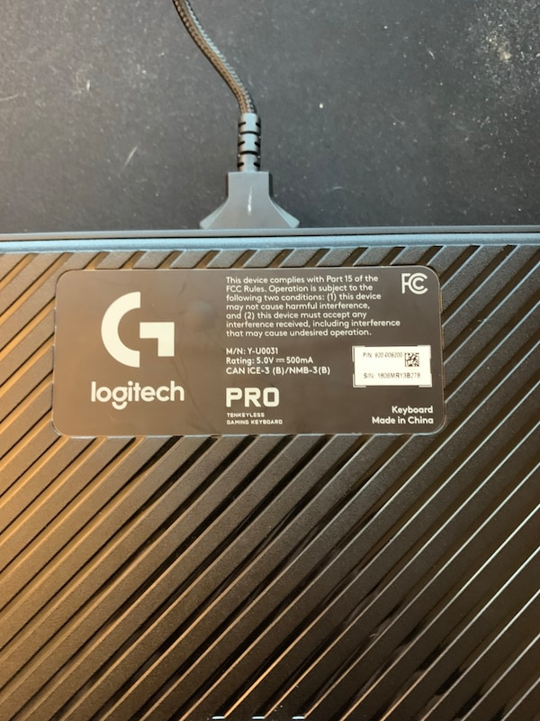c5d8a0af982 Used Logitech g pro gaming keyboard for sale in Pasadena - letgo