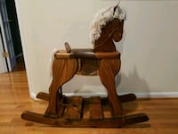brown wooden rocking horse toy Burke, 22015