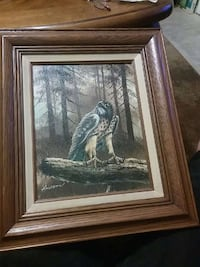 Hawk painting on Canvas Placentia, 92870