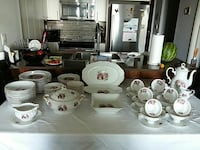 98 PIECES  ANTIQUE BAVARIN DISHES  NEVER BEEN USED  Toronto, M6R 1V4