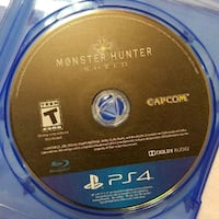 Monster Hunter world disc only Holiday, 34691