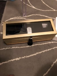 Beautiful watch box with glass top holds 5  Toronto, M1S