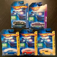 Lot of 5 Hot Wheels Collectible Cars