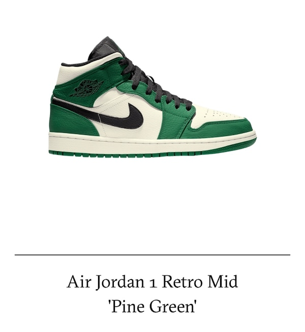 best website a8666 59afd Air Jordan 1 Retro Mid 'Pine Green'