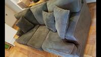 """Olive Green 3 Seat Couch 85"""" Long Silver Spring, 20906"""