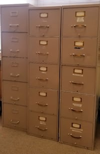 Vertical File Cabinet - Letter/Legal 5 Drawer, Tan  WASHINGTON