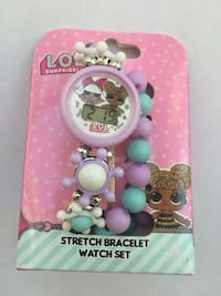LOL Surprise Stretch Bracelet & Watch Set New in Box..i have 50 available Broken Arrow