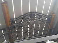 Iron and wood trundle bed frame