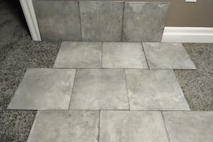 "Brand New 13"" x 13"" Grey Ceramic Tiles"