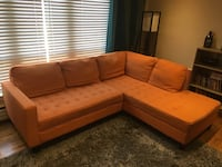 Orange Sectional Couch Toronto, M4S 1E1