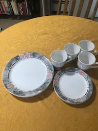 Corelle Floral Dish Set Service For Four Johnston, 02919