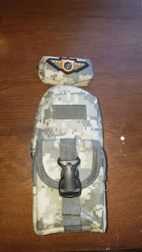 gray and white camouflage pouch  Toronto, M9C 4W3