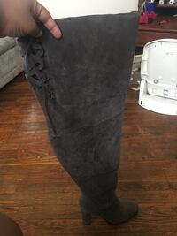 pair of gray suede boots Columbus, 43227