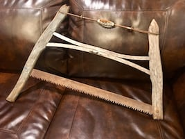ANTIQUE WOODEN ALASKA BOW SAW