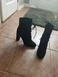 "Super cute ankle booties. Never worn. Size 10. 4""  Milton, L9T 0E7"