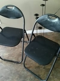 two black metal folding chairs Longueuil, J4K 2W6