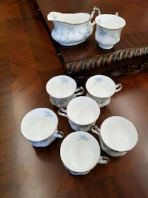 Paragon Stoke-on-Trent bride's Choice 7 Cups and  1 more piece