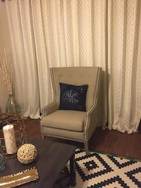 Accent Chair Beige Pembroke Pines, 33026