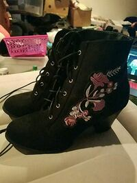 Size 10 Embroidered Women's Boots Peyton, 80831
