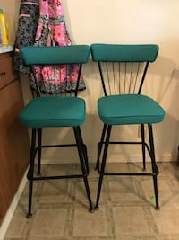 two blue and black metal chairs Eugene, 97401